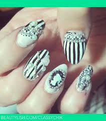 cameo nails disered by nikki on