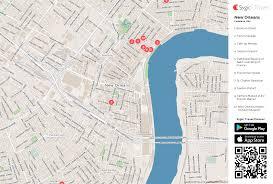 garden district new orleans walking tour map. Beautiful District New Orleans Printable Tourist Map Inside Garden District Walking Tour E