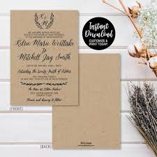 wedding invite template download wedding invite templates download wedding invite templates etsy