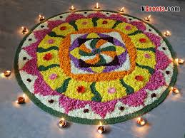 Indian Festival Decoration Flower Decoration Of South Indian Festival Onam Of Kerala Kolam
