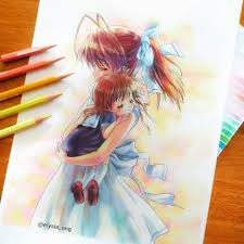 Outsource your anime art project and get it quickly done and delivered remotely online. Elysia 6 4k On Instagram Ushio Okazaki Nagisa Furukawa Clannad After Story Cause Sanae She She Told Me The O Clannad Clannad Anime Anime Art