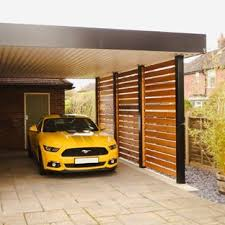 Delightful Photo Of A Medium Sized Contemporary Attached Single Carport In Other.