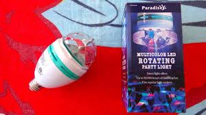 Paradise 2 In 1 Rotating Party Light Paradise Led Rotating Disco Party Light Bulb