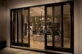 interior clear glass door. Elegant Black Wooden Frame Sliding Glass Door With Metal Handle Also Clear Panels Plus Luxurious Interior F
