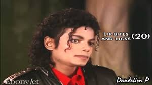 michael jackson counting lip bites and licks interview