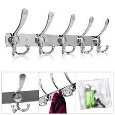 10 Hook Coat Rack Stainless Steel 100 Hooks Coat Hat Clothes Robe Holder Rack Hook Wall 77
