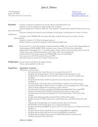 Resume Sample Free Download Entry Level Software Engineer Resume