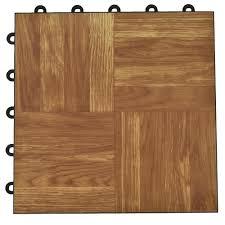 dark oak interlocking basement plastic and vinyl floor tile 24 pack 24 5 sq ft