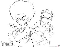 boondocks coloring pages the