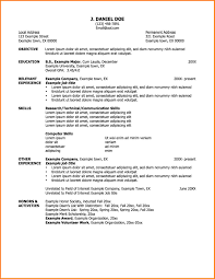 Resume Outline Examples Cv Resume Ideas