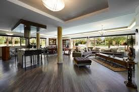While many dark wood floors tend to have little variation in color, these  have an