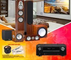 DÀN ÂM THANH XEM PHIM - NGHE NHẠC 5.1 DENON AVC X3700H - MONITOR AUDIO  SILVER 300 SERIES - Nhanh Shop Audio