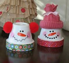 Nice DIY Snowmen From Terra Cotta Pots  Homemade Crafts Homemade Easy To Make Christmas Crafts