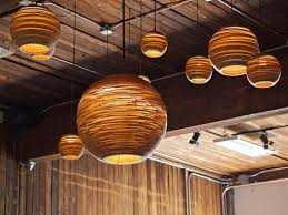Recycled lighting fixtures Recycled Glass Light Dornob Scraplights Recycled Corrugatedcardboard Ceiling Lamps