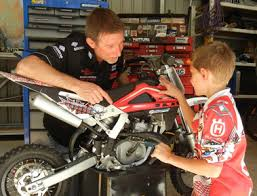 junior bike rider motorcycle maintenance factory forty six