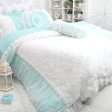 cottage bedding sets rose ruffle duvet cover set blue shabby chic bedding sets for country