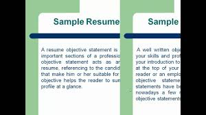 sample resume how to write a resume objective statement mp sample resume how to write a resume objective statement mp4