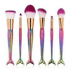mermaid makeup brushes set mermaid l by sela 6 piece