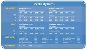Ace Check Cashing Fees Chart California Check Cashing Fees