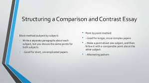 compare and contrast writing 5 structuring a comparison and contrast essay