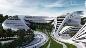 Zaha Hadid's plan for the redevelopment of a disused factory in Belgrade,  Serbia, gives