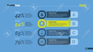 Four Points Percentage Chart Business Data Review Diagram