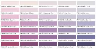 Lilac Colour Chart House Beautiful House Beautiful