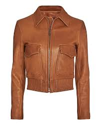 helmut lang patch pocket leather jacket at intermix now intermix com