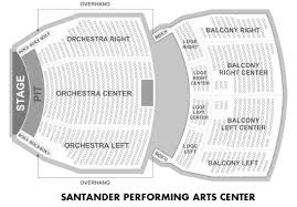 Santander Arena Seating Chart With Seat Numbers 30 Skillful Santander Performing Arts Center Seating Chart