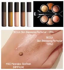 becca skin shimmering perfectors mac mineralize skinfinish