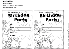 Small Picture free curious george invitations templates free printable curious