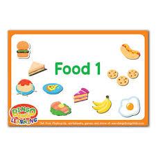 Food Flash Cards Food Set 1 Free Esl Flashcard Pack Bingobongo
