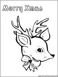 Small Picture Coloring Pages Reindeer Coloring Pages Free Printable Colouring