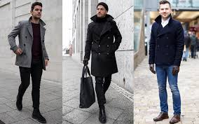 men s peacoat with popped collar 1