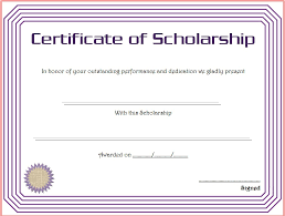 scholarship award certificate templates certificate of scholarship 8 best 10 templates