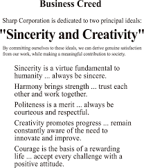 work philosophy example business philosophy sharp corporation sharp global
