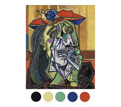 pablo picasso weeping woman 1937 oil paint on canvas tate colour palette quiz