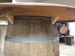 reclaimed wine barrel table my
