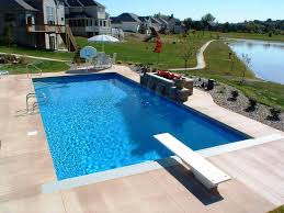 ... Outdoor Inspiration Very Popular Blue Small Inground Pools With Green  Field As Well ...