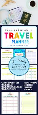 trip planner templates 15 free trip planner printables for your next vacation