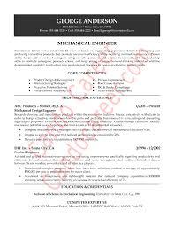 Mechanical Engineering Resume Template Simple Resume Examples Pdf Engineering
