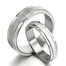 matching silver wedding bands. gemini free engrave groom \u0026 bride matching anniversary couple titanium wedding bands rings set, uk silver i
