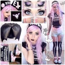 up photo aor 月0 uo 09858828s ui で8 by pink purple eyebrow human hair color goth