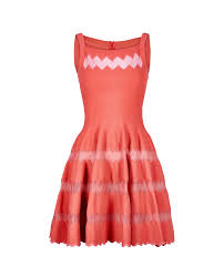 Alaia Size Chart Alaia High Neck Skater Dress