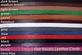 flat leather cord nautic grey