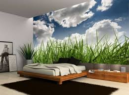 blue sky cloud green grass nature wall