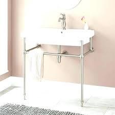 sink bucket sink bathroom metal vessel sink console sink with metal leg bathroom console legs porcelain with