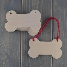 dog bone wooden craft shapes