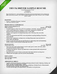 truck driver resume sample job description of truck driver