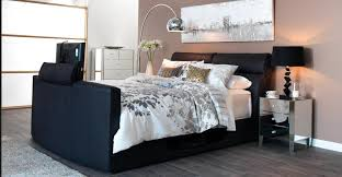 modern bedroom with tv. Plain Bedroom Cool Beds With Built In TV Leaves Bedding And Floor Lamp Modern Bedroom Tv